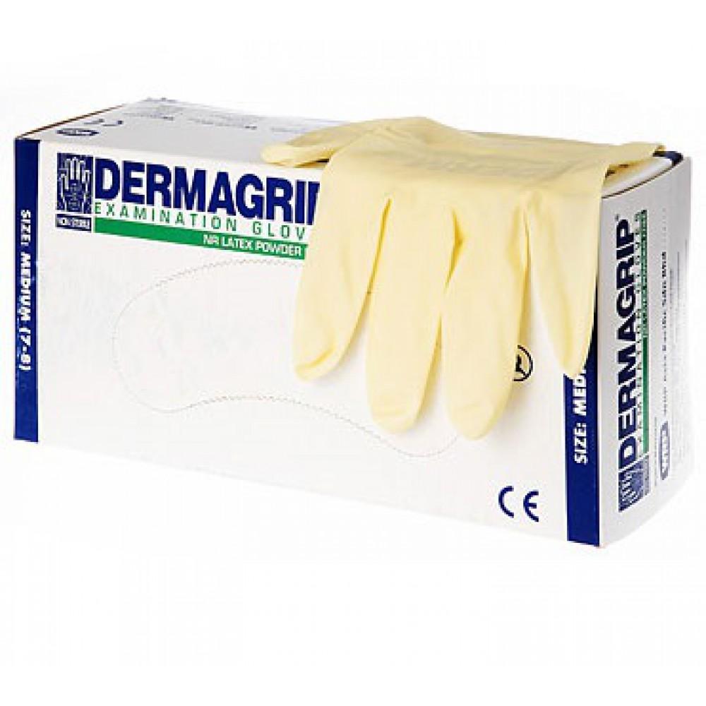 Перчатки DERMAGRIP EXAMINATION POWDER FREE (уп. 50 пар)